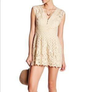 Free People Creme Lacey Dress